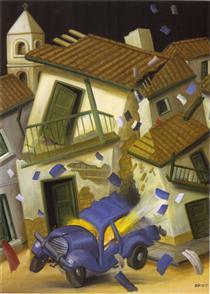 Car Bomb - Fernando Botero