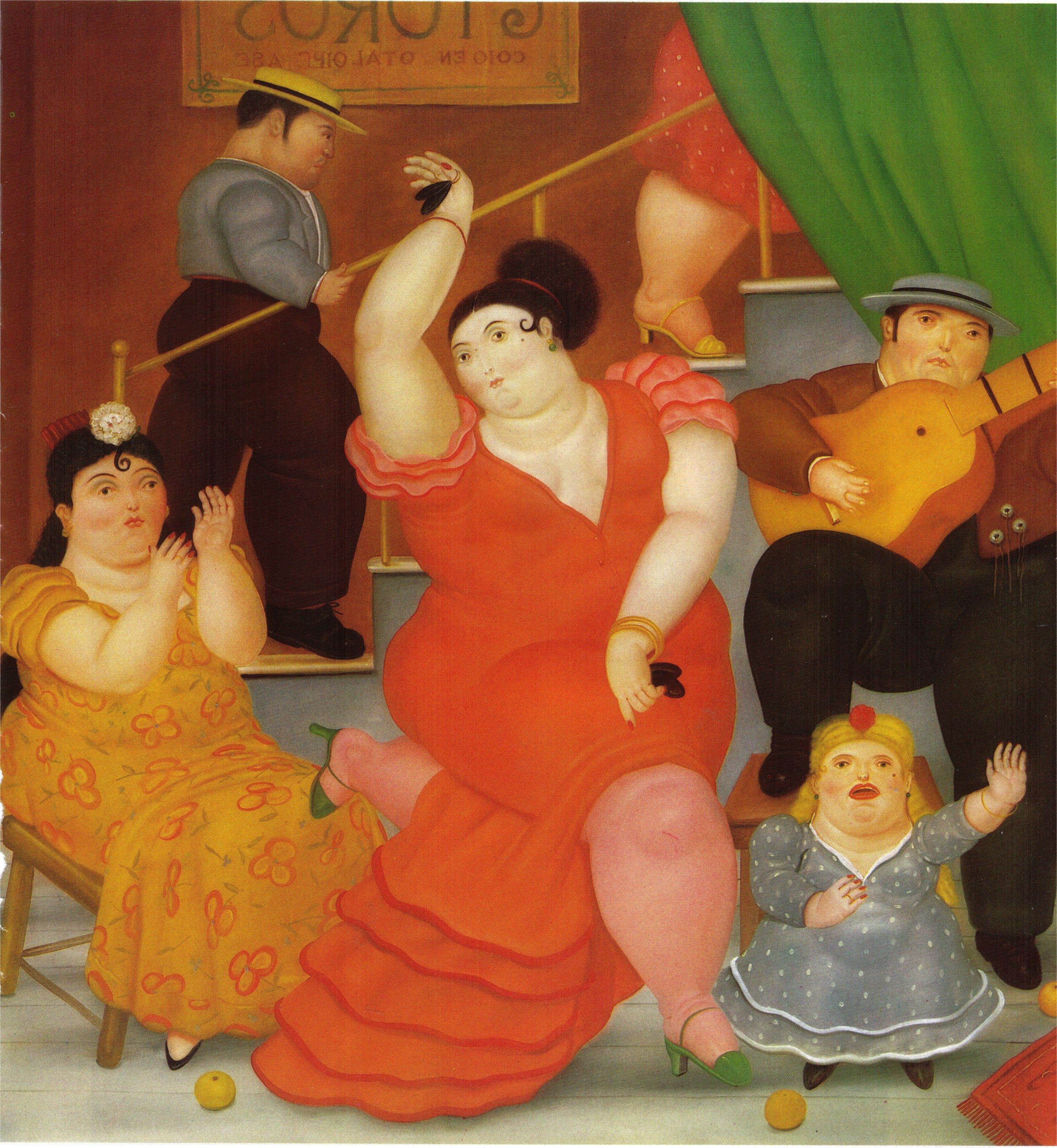 Bien-aimé Flamenco, 1984 - Fernando Botero - WikiArt.org WH63