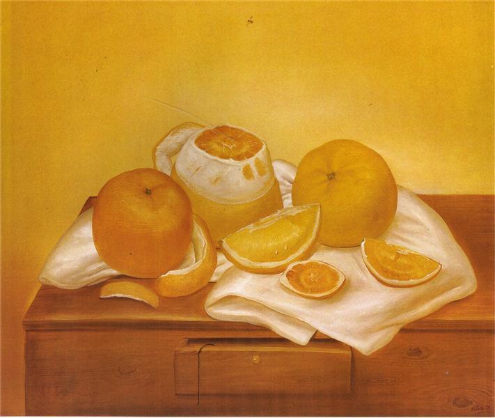 Oranges, 1973 - Fernando Botero