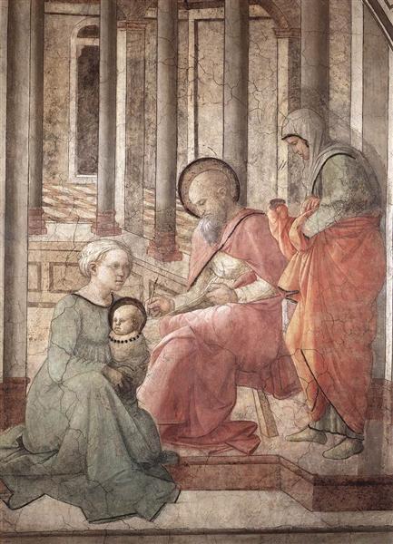 Birth and Naming St. John (detail), 1465 - Filippo Lippi