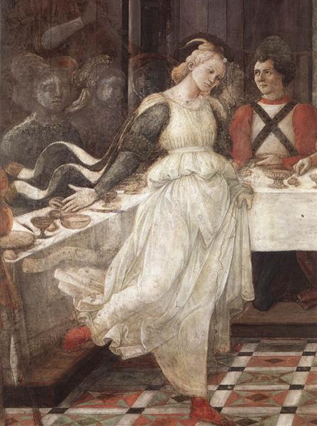 The Feast of Herod: Salome's Dance (detail), c.1460 - 1464 - Filippo Lippi