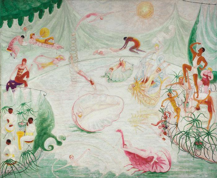 Natatorium Undine, 1927 - Florine Stettheimer