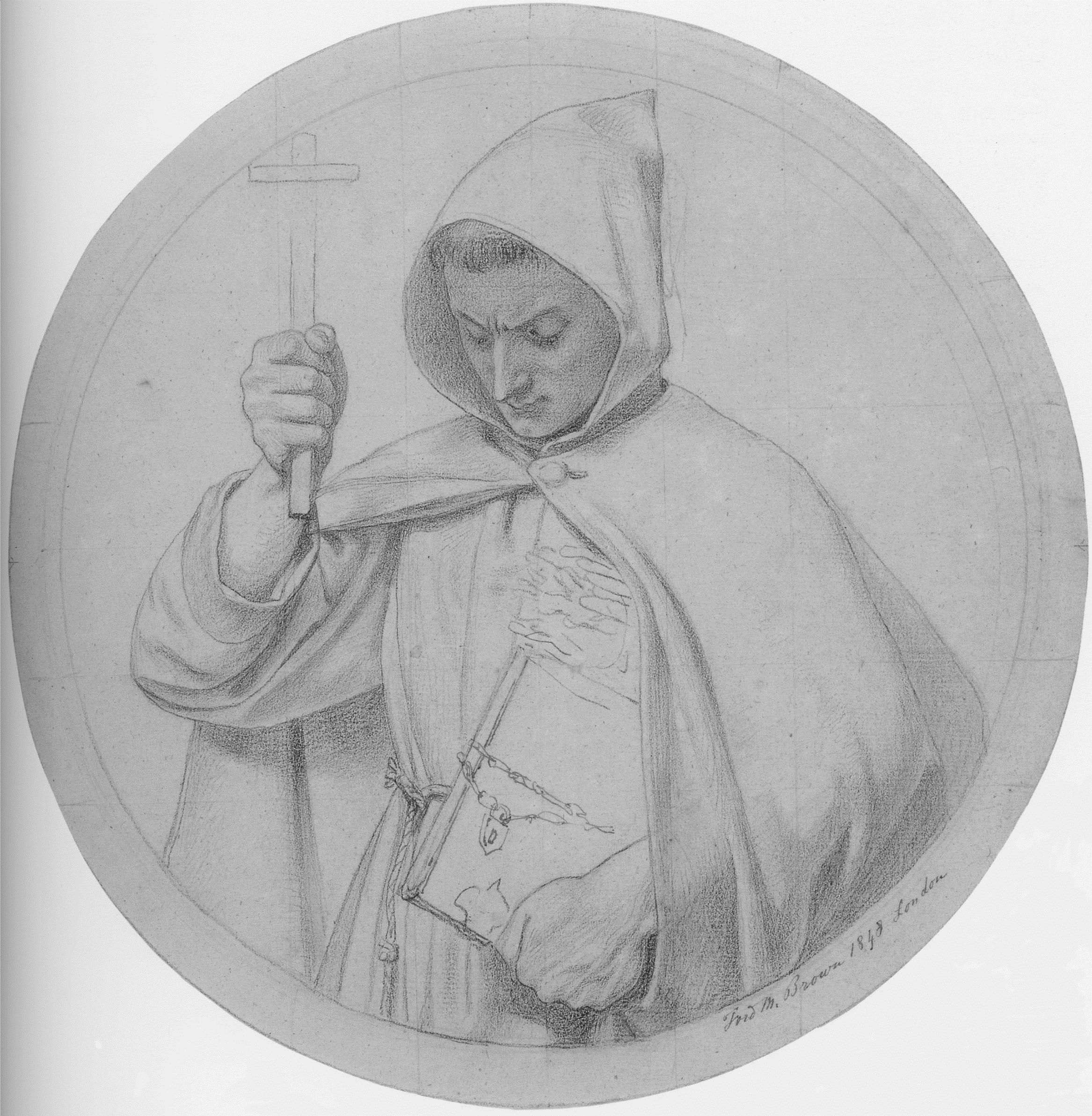 Study of a Monk, representing Catholic Faith, 1848
