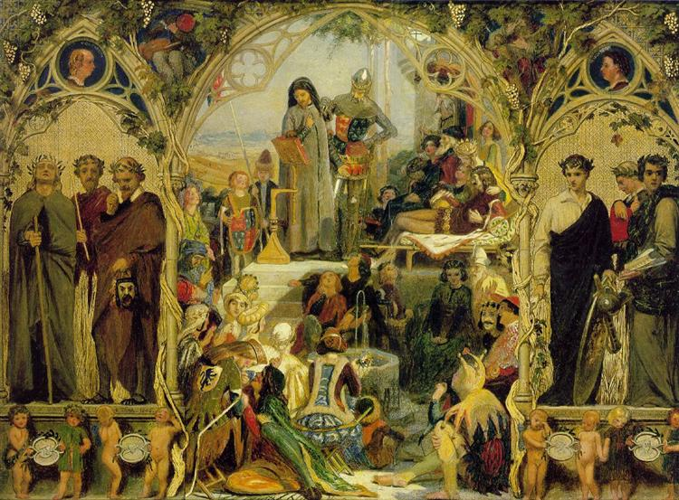 The Seeds and Fruit of English Poetry, 1845 - Ford Madox Brown