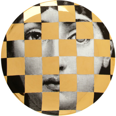 Theme & Variations Decorative Plate #45 (Checkerboard) - Fornasetti