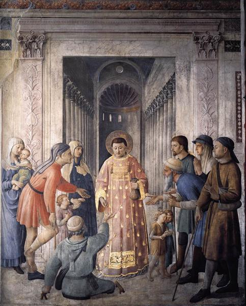 St. Lawrence giving alms, 1449 - Fra Angelico