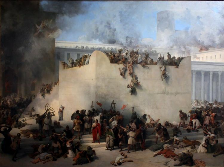 Destruction of the Temple of Jerusalem - Francesco Hayez