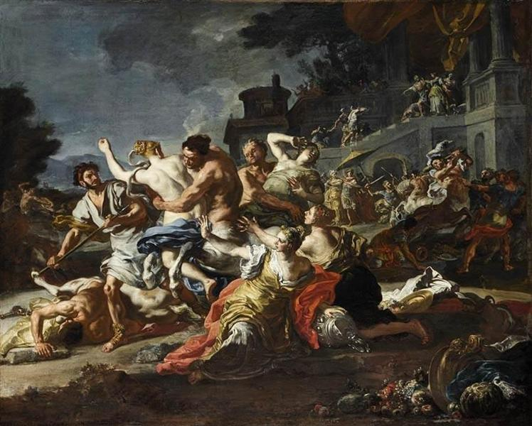 Battle between Lapiths and Centaurs, 1735 - 1740 - Francesco Solimena