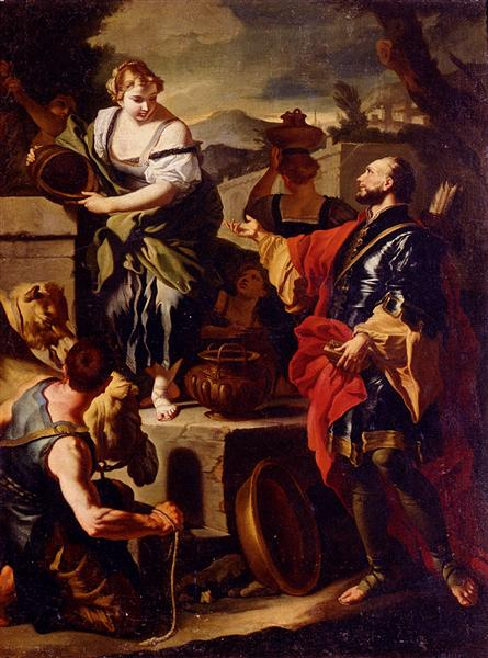 Rebecca and Eliezer at the Well - Francesco Solimena