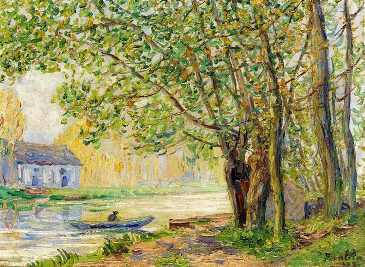 The Effect of Sun on the Banks of the Loing, 1905 - Francis Picabia