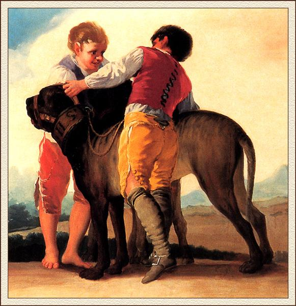 Boys With Mastiff, 1786 - Francisco Goya