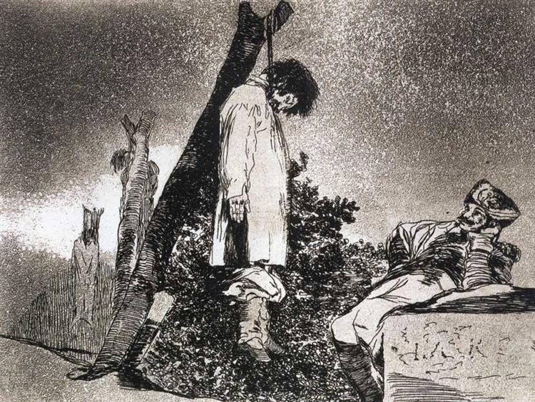 Here neither, 1812 - 1815 - Francisco Goya