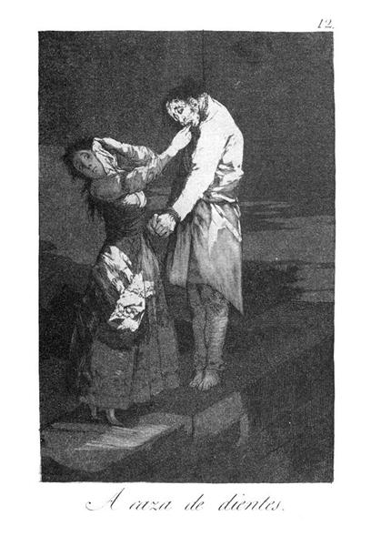 Out hunting for teeth, 1799 - Francisco Goya