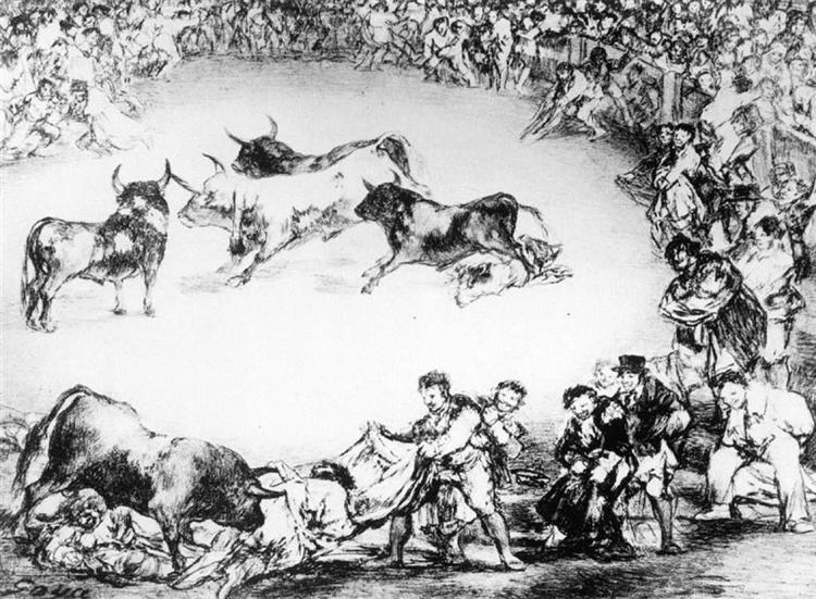 Spanish Entertainment, 1825 - Francisco Goya