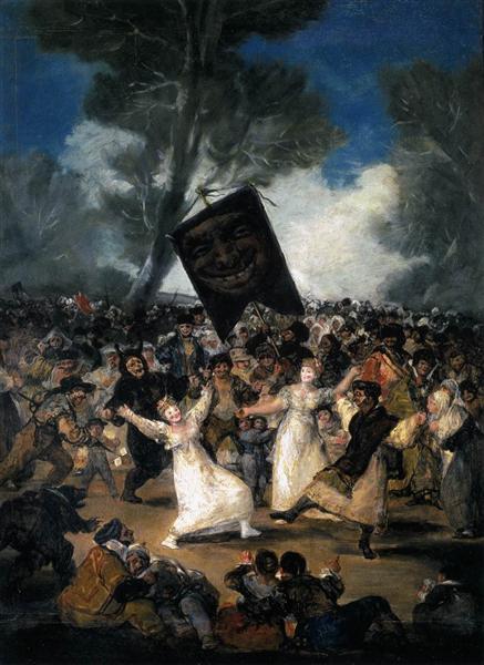 The Burial of the Sardine (Corpus Christi Festival on Ash Wednesday), 1812 - 1814 - Francisco Goya