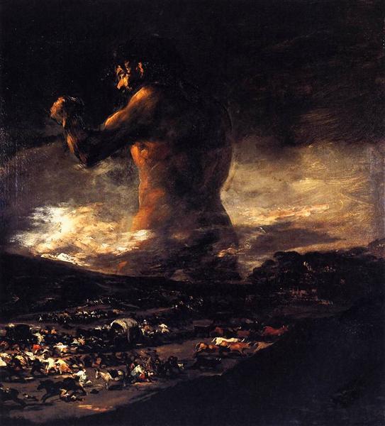 The Colossus, 1808 - 1812 - Francisco Goya