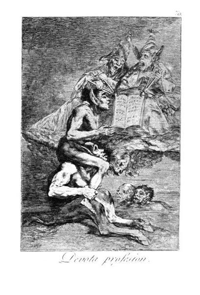The Devout Profession, 1799 - Francisco Goya