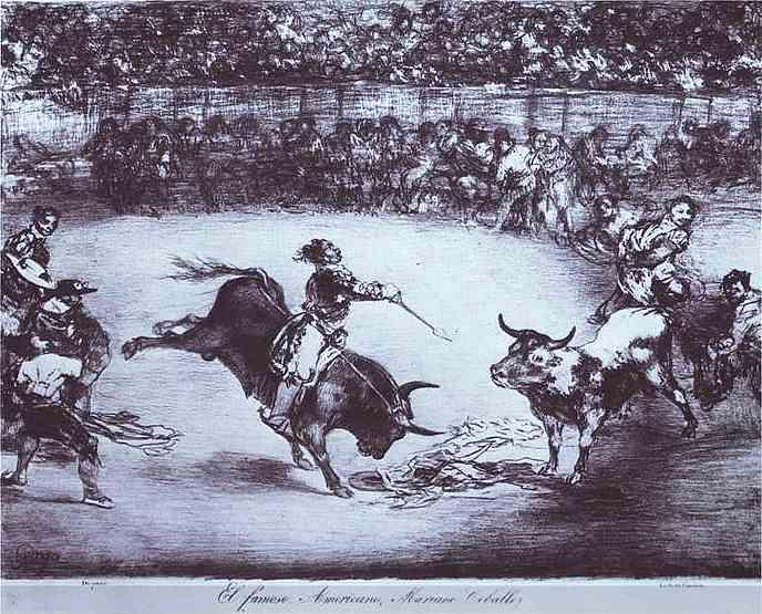 The Famous American, Mariano Ceballos, 1825 - Франсиско де Гойя
