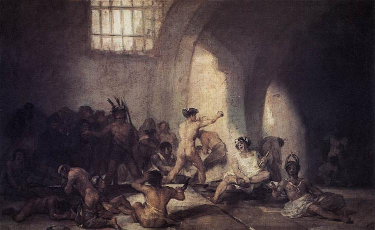 The Madhouse Francisco Goya WikiArtorg - Francisco goya paintings
