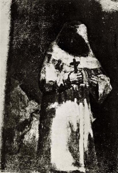 The monk, c.1820 - c.1824 - Francisco Goya