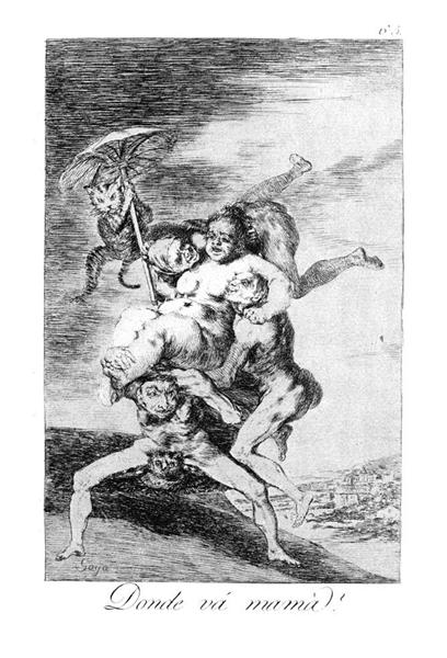 Where is mother going?, 1799 - Francisco Goya