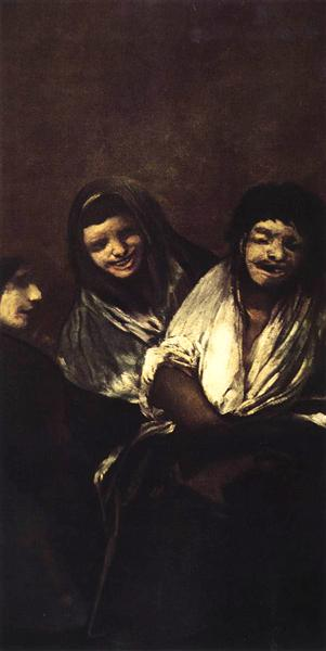 Young People Laughing, 1819 - 1823 - Francisco Goya