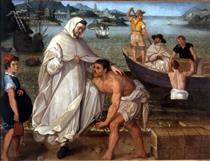 San Pedro Nolasco embarcando para ir a redimir cautivos - Francisco Pacheco