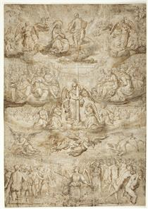The Last Judgment (sketch) - Francisco Pacheco