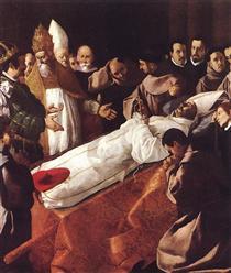 A Morte do Santo Boaventura - Francisco de Zurbarán