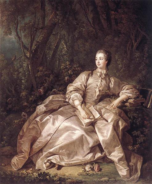 Madame de Pompadour, 1758 - Francois Boucher