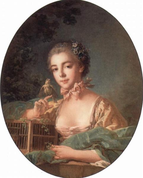 Portrait of the artist`s daughter, c.1760 - Francois Boucher