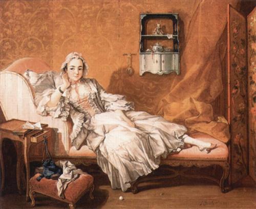 Portrait of the artist`s wife - Francois Boucher