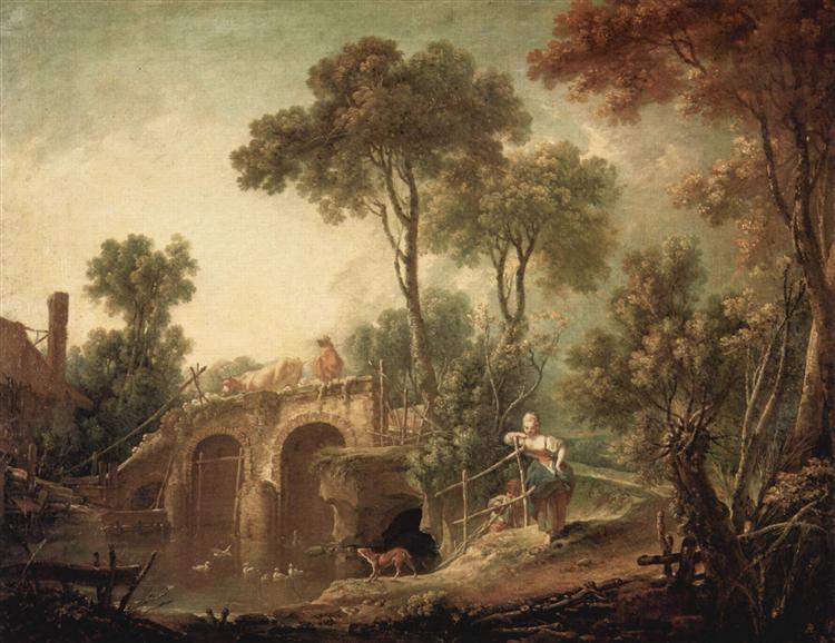 The Bridge, 1751 - François Boucher