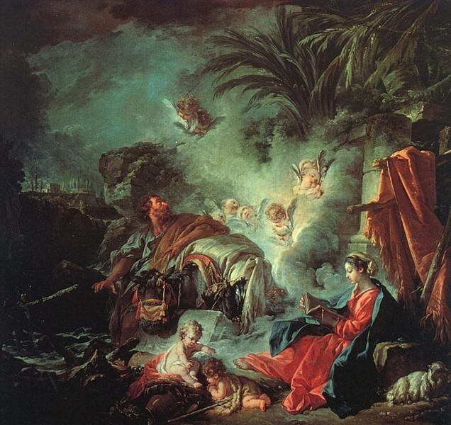 The Rest on the Flight into Egypt, 1737 - François Boucher