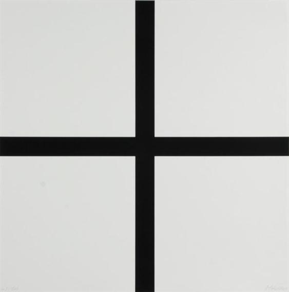 Trames 0°-90°---40 mm au trait et pleines, 1972 - Francois Morellet