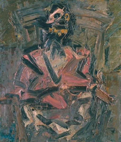 J.Y.M. Seated No. 1, 1981 - Frank Auerbach
