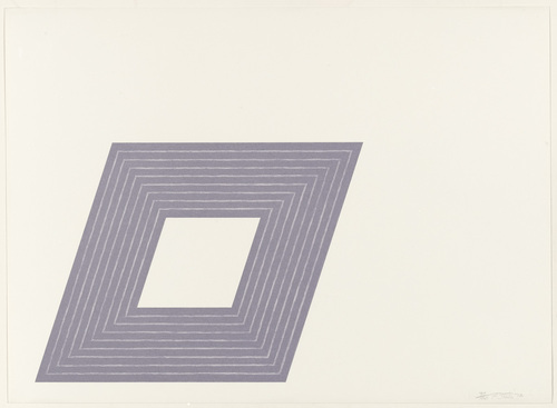 Carl Andre (from the Purple Series), 1972 - Frank Stella