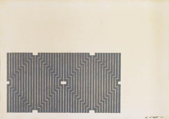 Casa Cornu (First Version), 1969 - Frank Stella