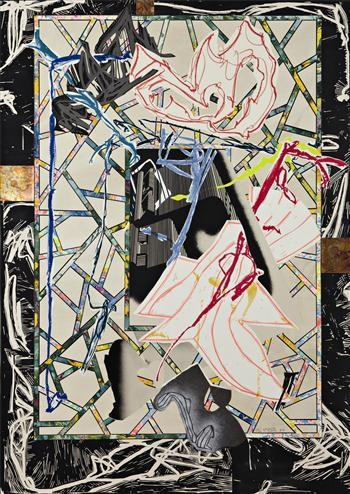 Counterpane, from The Waves series, 1989 - Frank Stella