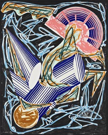 Front Cover, from Had Gadya series, 1984 - Frank Stella