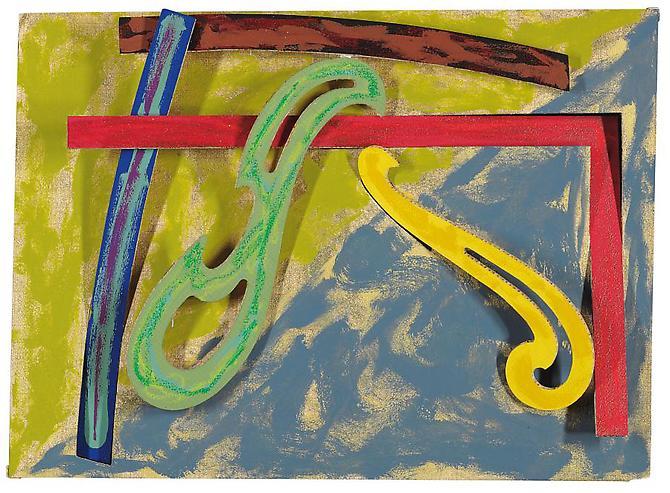 Green Solitaire, 1977 - Frank Stella