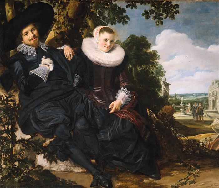 Marriage Portrait of Isaac Massa and Beatrix van der Laen - Frans Hals