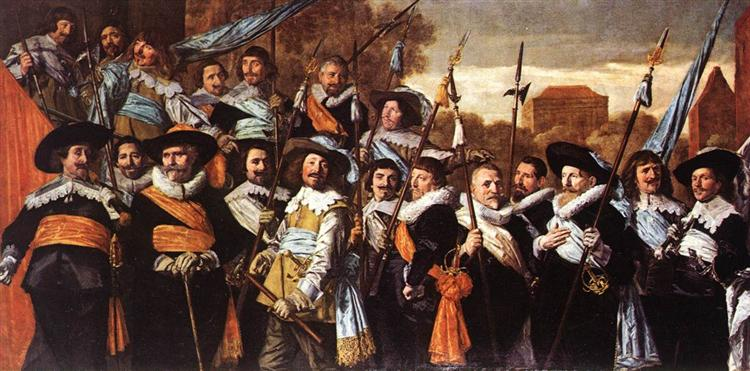 Officers And Sergeants Of The St. Hadrian Civic Guard - Frans Hals