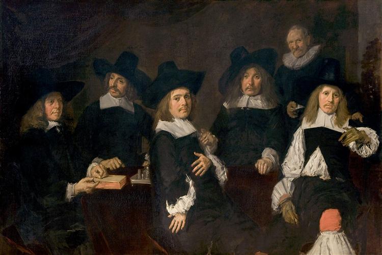 Regents of the Old Men's Alms House, Haarlem, 1664 - Франс Галс