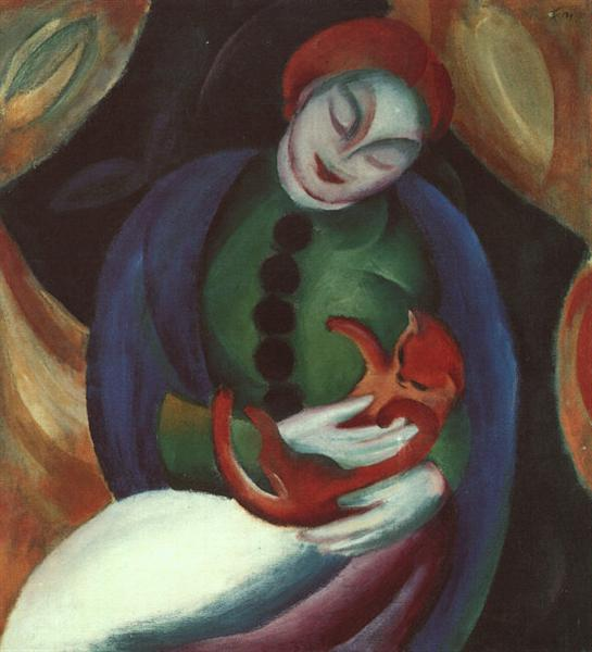 Girl with Cat II, 1912 - Franz Marc