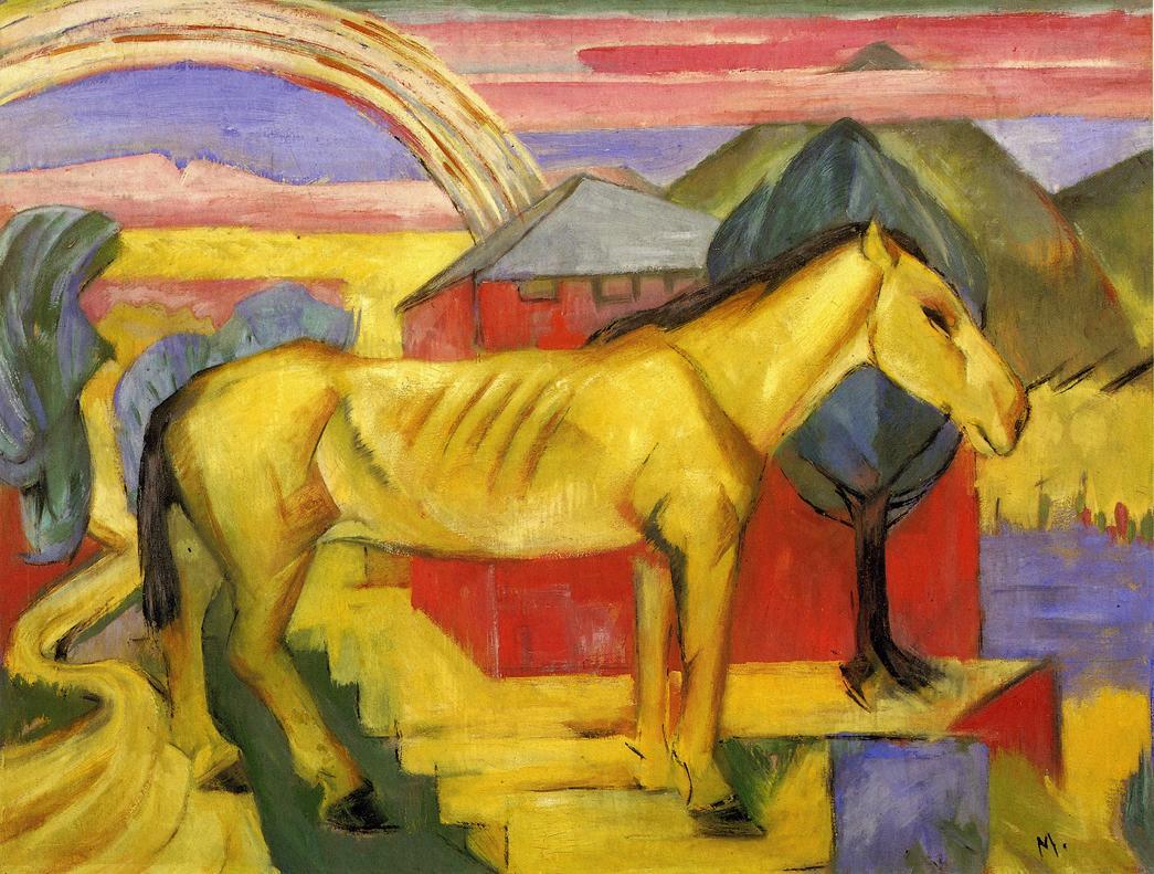 Long Yellow Horse, 1913 - Franz Marc - WikiArt.org