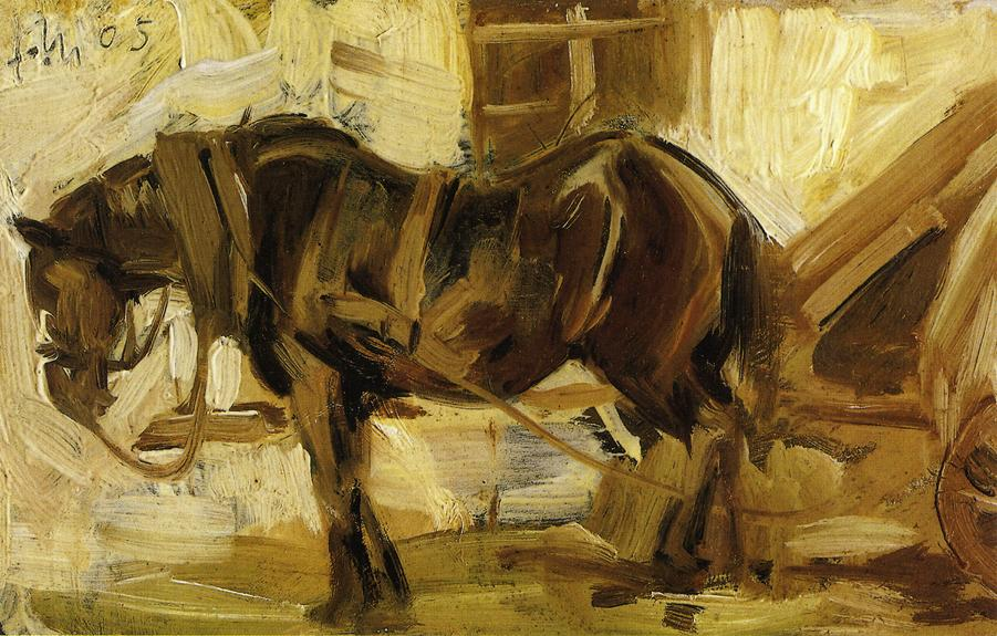 Small Horse Study, 1905 - Franz Marc - WikiArt.org