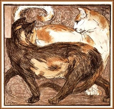 Two cats - Franz Marc