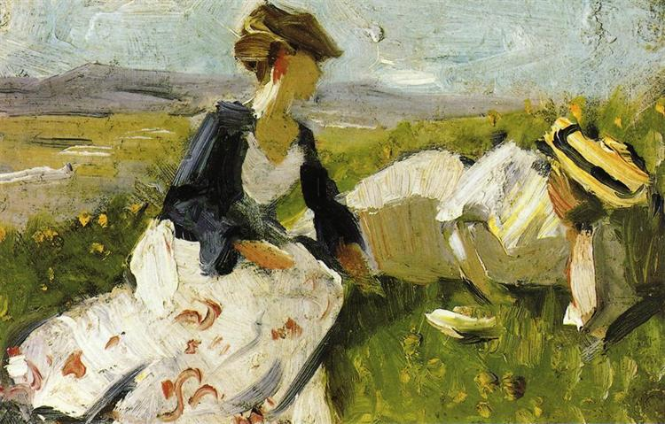 Two Women on the Hillside, 1906 - Franz Marc