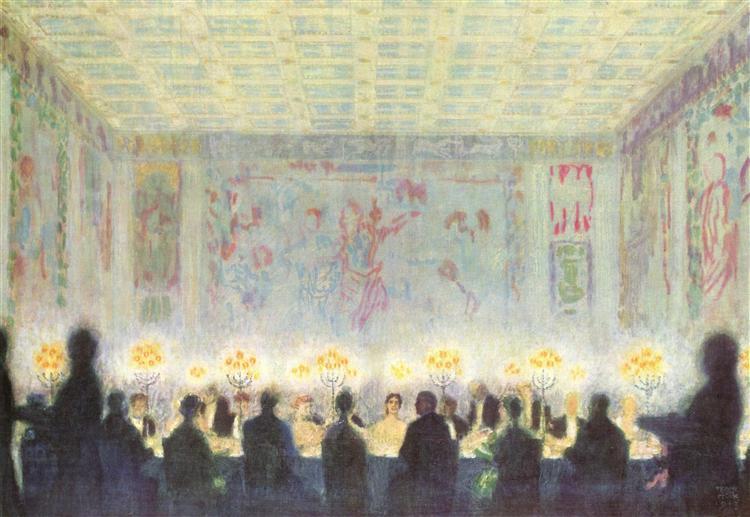 Dinner, 1913 - Franz Stuck